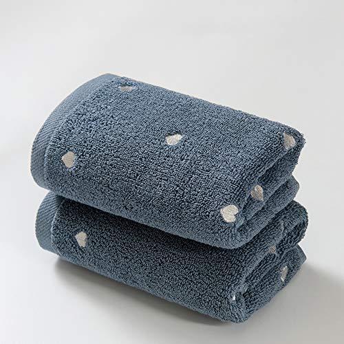 CLX Badetuch-Reinigungs-Set aus 2 Zimmer Stickerei Heart Shaped Gant de Toilette für weiche Haut und weicher Baumwolle Thick Gant de Toilette Reisen,B