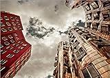 Poster 80 x 60 cm: Gehry Düsseldorf   05 von Frank