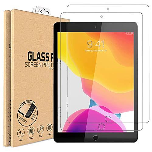 [2 unidades] Protector de pantalla iPad 10.2 pulgadas, iPad 2020 [A2428, A2429, A2270, A2430], iPad 10.2 pulgadas, iPad 2019 [A2197, A2200, A2198] Película vidrio templado Protectores