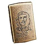 XIAOLINGTONG Zigarettenetui Metall Tragbare Herren Flip Feuchtigkeits- und druckfeste Zigarettenetui Einfach in die Tasche zu stecken Kann 16 Zigaretten aufnehmen (Color : Che Guevara)
