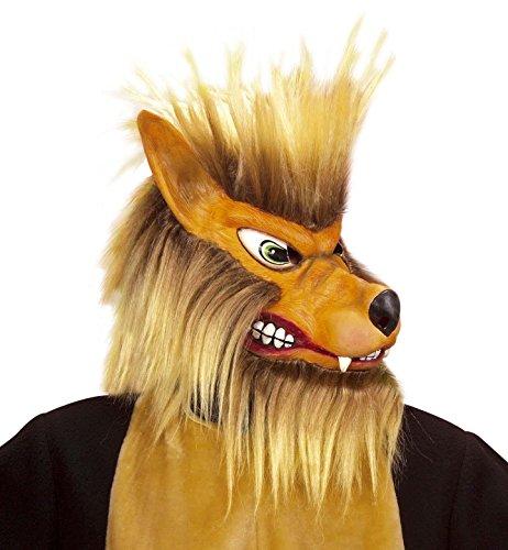 Générique - MA1010 - Masque Loup Complet avec Poils Latex - Taille Unique