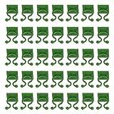 Angoily 100 Piezas Clips de Fijación de Pared de Escalada de Plantas Autoadhesivos Gancho de Fijación de Vides Soporte de Plantas Vegetales Clip de Encuadernación