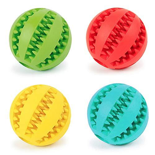 Fippy 4 STÜCKE 5cm Haustiere Hund Kauen Spielzeug Ball, Gummiball, Hund Zahnreinigung Ball, Interaktive Hundespielzeug