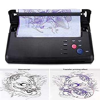 Pro Black Tattoo Transfer Copier Printer Machine Thermal Stencil Paper Maker Tattoo Transfer Printer Machine with Five Functional Buttons