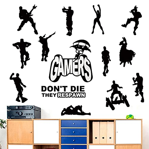 SUPANT Game Stickers for Wall Decal, Where We Droppin Boys for, Gaming Poster Murals for Dancing Nursery Boys Room Vinyl Bedroom Home Kids Decal Playroom