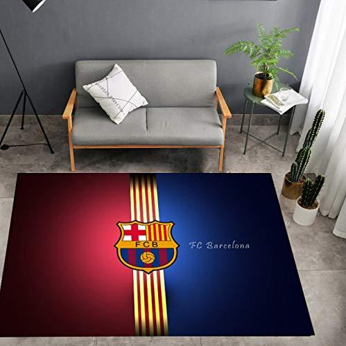 Alfombra Ventiladores De Fútbol Modernos Alfombrillas Absorbentes Antideslizantes Inicio Club Europeo De Barcelona Sala De Estar Simple Dormitorio Puerta Alfombrilla Decoración 140Cm * 200Cm