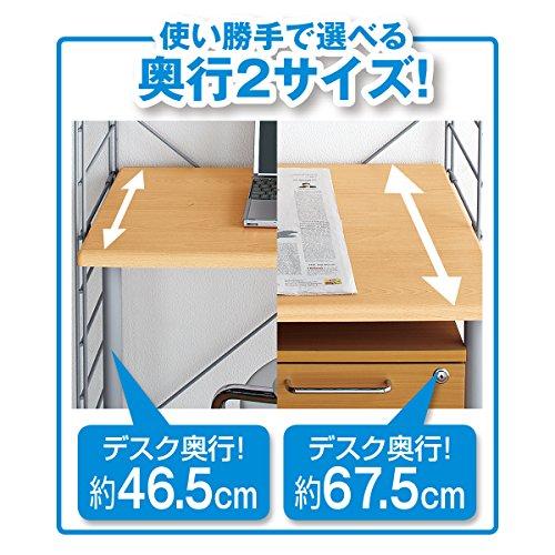 『ニッセン ラック付ワーキングテーブル/サイズ【122cm幅高さ165cm】 / 色【白】』の3枚目の画像