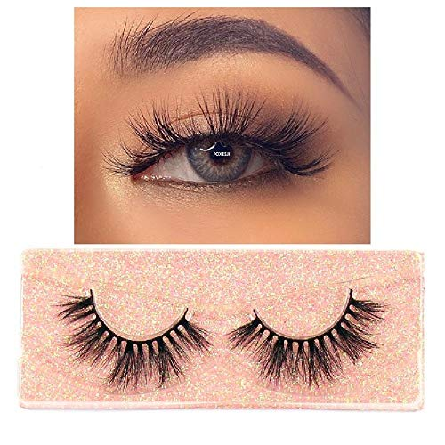 FBFGMakeup Eyelashes 3D Mink Lashes Fluffy Soft Wispy Volume Natural Long Cross Pestañas postizas Pestañas de Ojos Pestañas Reutilizables