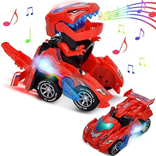 Dinosaur Cars Transformando Juguetes, Regalos de cumpleaños de Navidad para niños de...