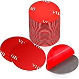 Boao 20 Pieces Sticky Adhesive Replacement Round Double Sided Foam Tape Pad Mounting Adhesive Compatible with Socket, Pop Expanding Stand and Grip (Gray)