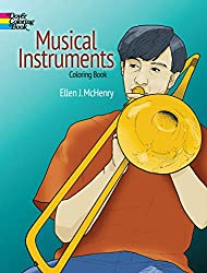 Image: Musical Instruments Coloring Book (Dover Design Coloring Books) | Paperback: 48 pages | by Ellen J. McHenry (Author). Publisher: Dover Publications; Clr Csm edition (October 19, 1995)