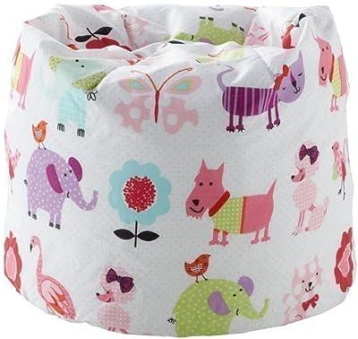 Homyl Extra Large Stuffed Animal Storage Bean Bag Chair