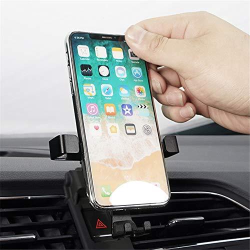 Soporte de teléfono móvil para Golf VII 7 5 puertas Variant para GTI 2014-2019, accesorio para coche, accesorio para ventilación, soporte de coche, color negro