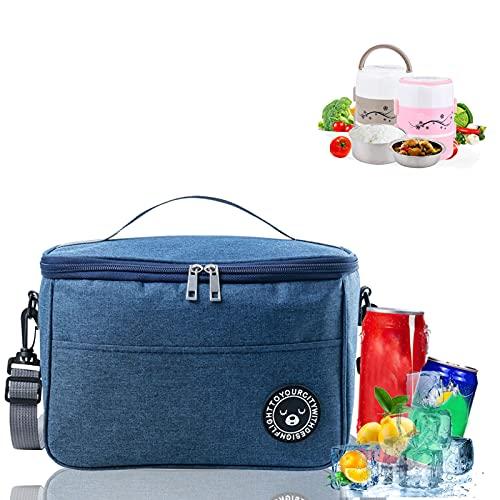 Kühltasche Faltbar,6L Picknicktasche Kühltasche,Lunch Tasche,Kühltasche Mini Faltbar,Kühltasche Eistasche,Minikühltaschen,Thermotasche Faltbar Klein,Isoliertasche Lunch,Kühlbox für Picknick (Z-Marine)