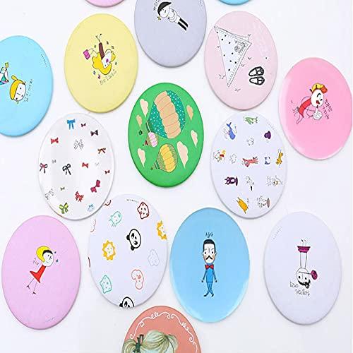10 Pcs Espejo Portátil, Espejo Compacto, Espejode Bolsillo, Mini Espejo para Bolso, Regalos para Viajes Bodas, Cumpleaños, Redondos, 7 cm(Color Aleatorio)