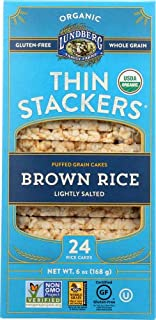 Lundberg Family Farms Organic Thin Stackers Grain Cakes (Brown Rice Lightly Salted, 6 oz)