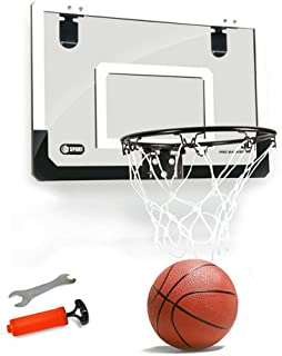 Mini Basketball Hoop for Door,18x12 Inches Kids Indoor Basketball Hoop Play Set Office Wall Hanging Basketball Board with ...