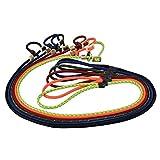 Romneys - Guinzaglio per cani con collare da 6 mm | Moxon Guinzaglio per retriever/Agilityleine | con limitatore di trazione, arresto in corno di cervo (nero, 100 cm)