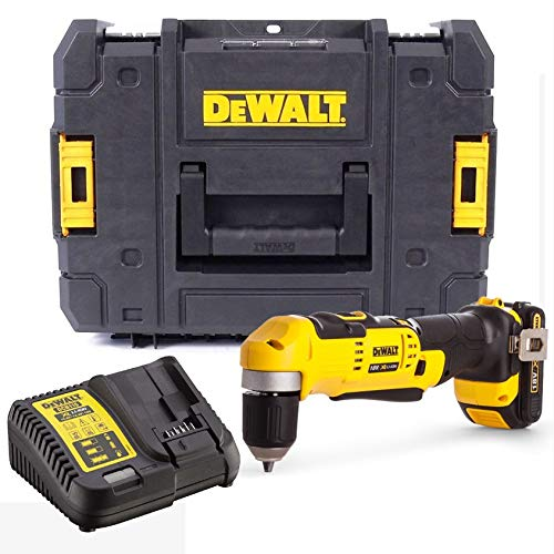 Dewalt DCD740C1 18v XR 2 Speed Right Angle Drill Lithium -1 Battery Charger Case
