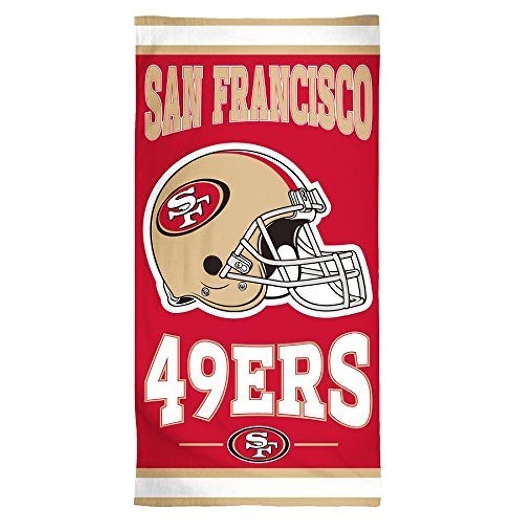 ボーダー履歴書子供っぽいNFL San Francisco 49ers Fiber Beachタオル、30?