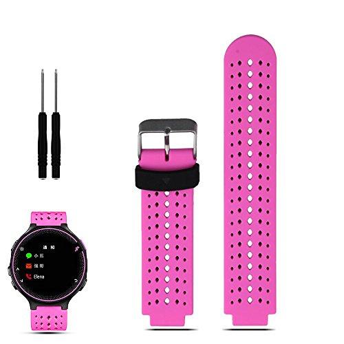 iFeeker Zubehör Luftloch Stil Weichen Silikon Ersatzband Uhrenarmband Mit werkzeugen Für Garmin Forerunner 220/230/235/630/620/735XT Sport GPS Laufende Uhrenarmband