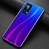Smartphones, 6.8 'waterdrop Incell Pantalla Completa Teléfono Celular Con Doble Sim 5200mah Batería Grande Desbloqueo Facial Y Desbloqueo De Huellas Dactilares 4g Teléfonos Celulares Duraderos,Púrpura