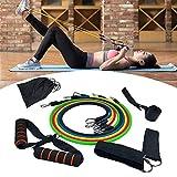 Bandas de Resistencia Fitness Dispositivo de Rally Multifuncional para Entrenamiento Muscular Y Fitness (11 ArtíCulos)