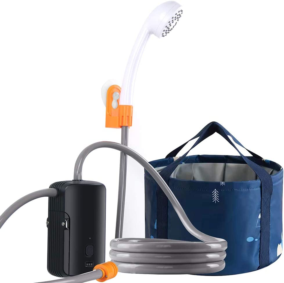 2021 new Portable Detroit Mall Camping Shower Set Built-in 4400mAh USB Rechargeable W