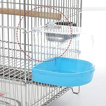 Dailyinshop® Oiseau Baignoire d'eau pour Animaux Cage À Oiseaux Accroché Accessoires Bol Perruche Birdbath