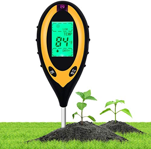 Beauty HAO 2021 Upgraded Soil pH Meter Soil Tester, 4 in 1 Soil Test Kit, pH Moisture Temperature Light Water Tester and Monitor, Testing Kits for Garden, Farm, Lawn, Indoor and Outdoor