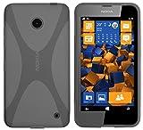 mumbi Hülle kompatibel mit Nokia Lumia 630/635 Handy Hülle Handyhülle, transparent schwarz