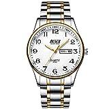 Relojde Gama Alta para Hombres Calendario Relojpara Hombres Banda de Acero Relojdigital Resistente al Agua Relojde Cuarzo Luminoso para Hombres de Negocios de Moda