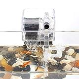 Senzeal Aquarium Hang On Filter Fish Tank Power Filter 3W 110V Waterfall Hanging Filter with Filter Cotton for Fish Tank Freshwater Saltwater
