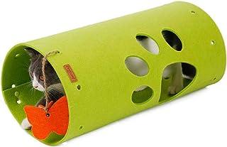 D-bird sky ペット用品 DIY猫トンネル ペット スプライサブル 折 り畳み 人気 猫 小型犬 猫遊宅おもちゃ トンネルペット用 キャットトンネル 再生チャンネル パズル 耐久な構造 (グリーン)