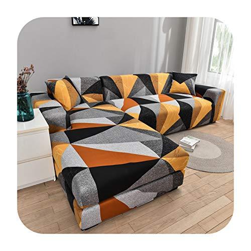 ZaHome Funda de sofá de esquina con patrón floral para sala de estar, funda elástica para sofá seccional, sofá chaise Sofa necesita comprar 2 piezas Cove-Color24-2 plazas y 2 plazas
