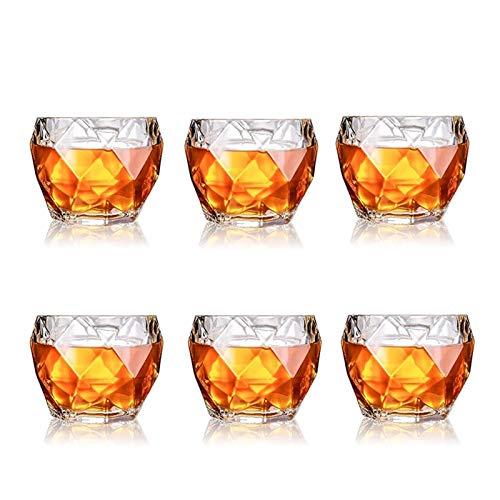 WUHUAROU Vasos de Whisky, Juego de 2/4/6, 11 oz, Vasos de Whisky Premium, Vasos de Whisky para cócteles, Bebidas a la Antigua (Size : 6PCS)