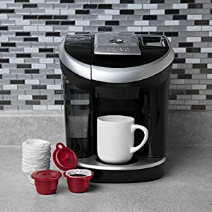 Reusable Vue Coffee Cups (Set of 2) with 50 Filters -Compatible with ALL Keurig Vue Machines V500, V600, V700, V1200 and V1255
