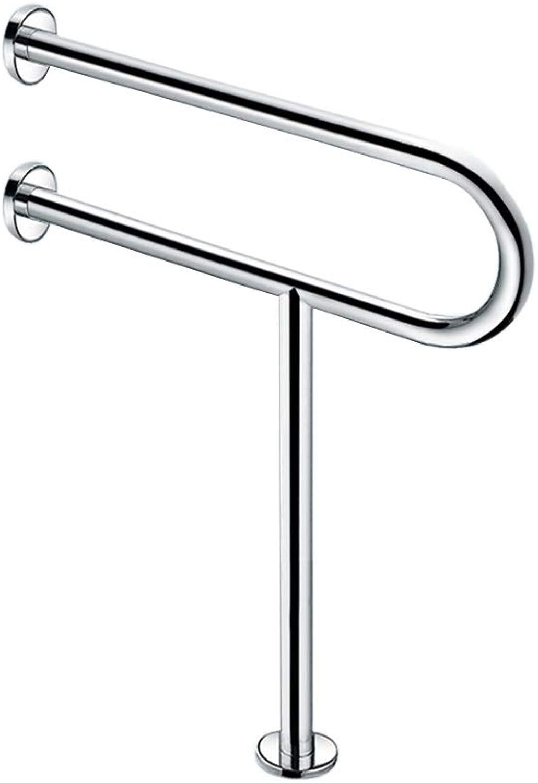 304 Stainless Steel handrail Barrier-Free Safety Pregnant Women Elderly Bathroom handrail (Size   60  90cm)