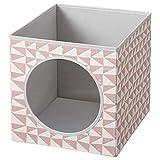 ik Ikea LURVIG - Casita para gatos, de librería, rosa, 33 x 38 x 33 cm