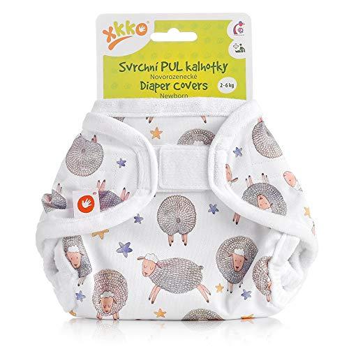 XKKO - Überhose (PUL) - Newborn (2-4 kg) - Verträumte Schafe