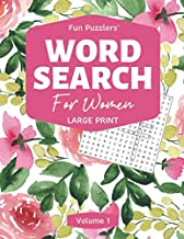 Word Search: For Women Volume 1: Large Print (Fun Puzzlers Large Print Word Search Books)