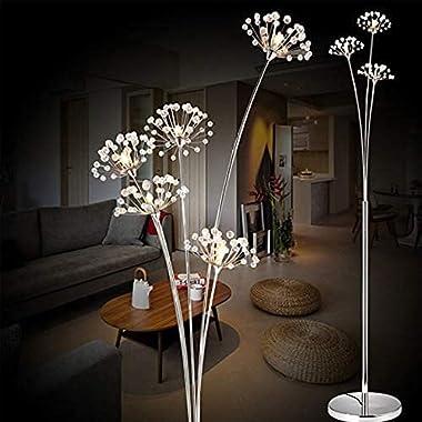 YMLSD Floor Lights,Standing Light Vertical Lamps Lights Modern Simple Led Floor Lights,Living Room Bedroom Crystal Lamp Weddi