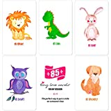 """Tiny Love Cards - Set of 85 Cute Mini Cards, for Hand-Written Notes and Any Occasion - 2"""" x 3.5"""", Small Blank Note Cards (Cute Animals: 5 Design Variety Set)"""