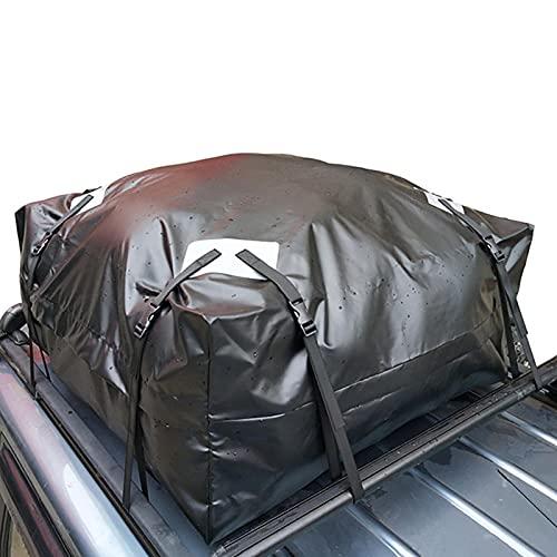 Portapacchi da tetto, borsa da tetto per auto in tessuto Oxford impermeabile grande 420D da 425L con 8 cinghie regolabili, borsa da tetto per auto per tutti i veicoli con/senza portapacchi