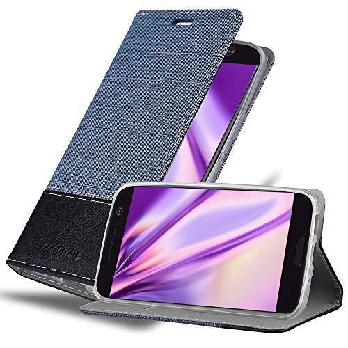 Cadorabo Hülle für HTC 10 (One M10) in DUNKEL BLAU SCHWARZ - Handyhülle mit Magnetverschluss, Standfunktion & Kartenfach - Hülle Cover Schutzhülle Etui Tasche Book Klapp Style