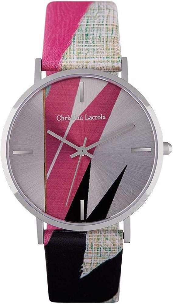 Christian lacroix orologio da donna cassa in acciaio e cinturino in vera pelle CLFS1802