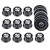 10pcs Adjustable Rotate Button Potentiometer Control Knobs and 10pcs 0-100 Scale...