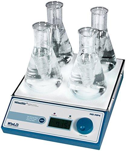 Witeg MS-MP4 magneetmixer met 2 x 2 posities, 80-1.2000 omw/min, voor het mengen van monsters in de microbiologie of biochemie