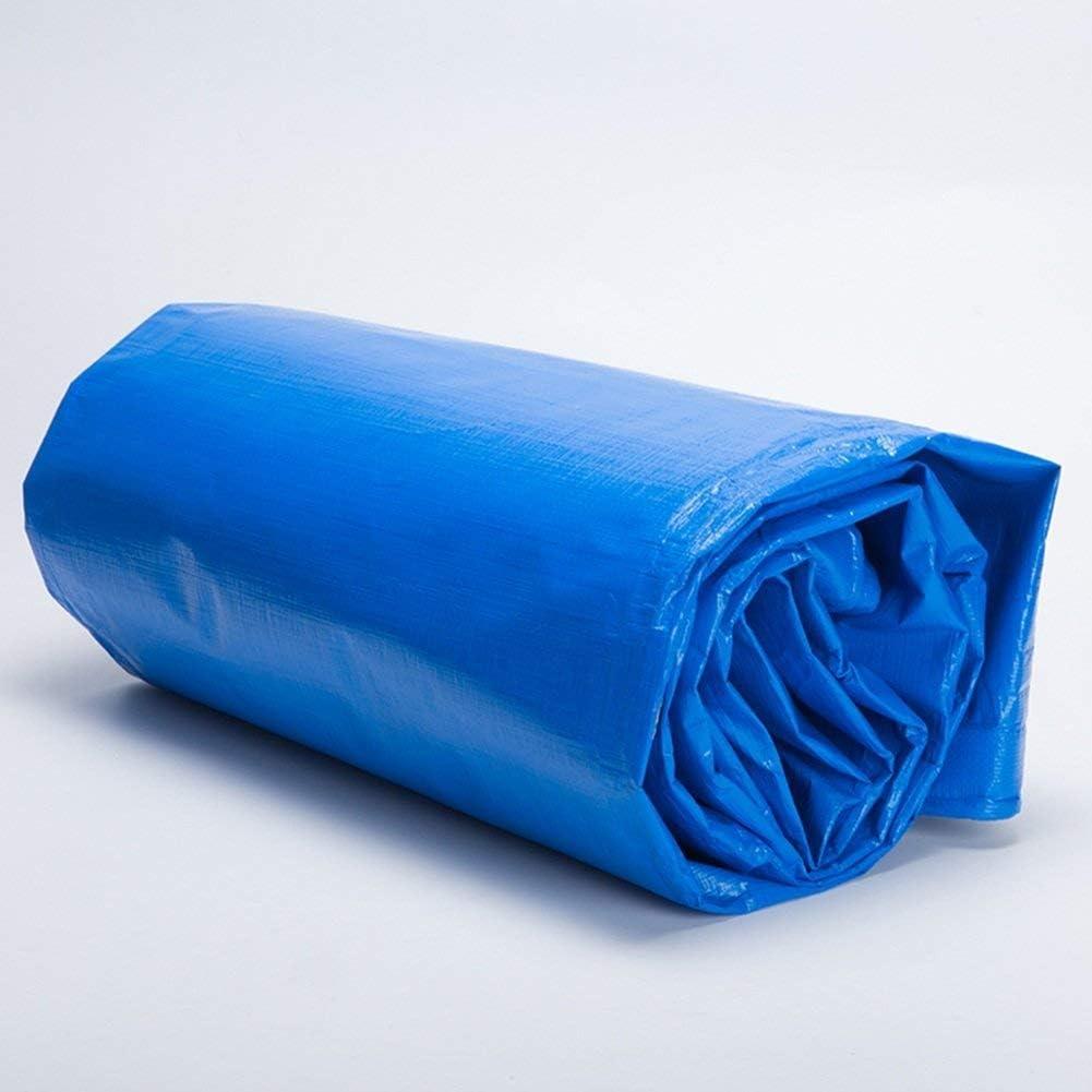 YUMUO Bâche PE Housse extérieure en Tissu étanche à la Pluie étanche à la lumière Pliante Double Face étanche à la poussière (Couleur: Bleu Dimensions: 2 x 2 m) 2