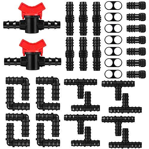 Kalolary 42 piezas Kit conector de riego por goteo...